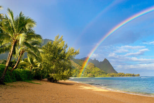 Rainbow kauai beach